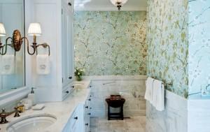 Chọn giấy dán tường cho phòng tắm