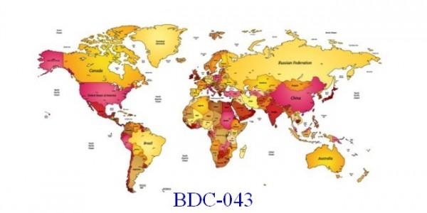 Trang dán tường Bản đồ và Du lịch mã BDL-101