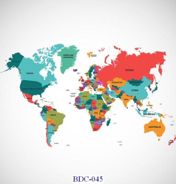 Trang dán tường Bản đồ và Du lịch mã BDC-045
