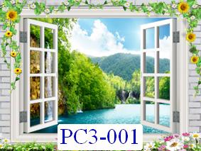 Tranh dán tường Phong cảnh 3D Mã PC3-001