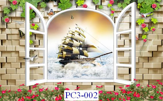 Tranh dán tường Phong cảnh 3D Mã PC3-002
