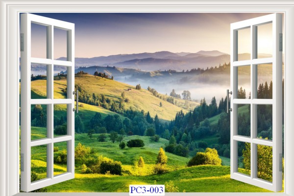 Tranh dán tường Phong cảnh 3D Mã PC3-003