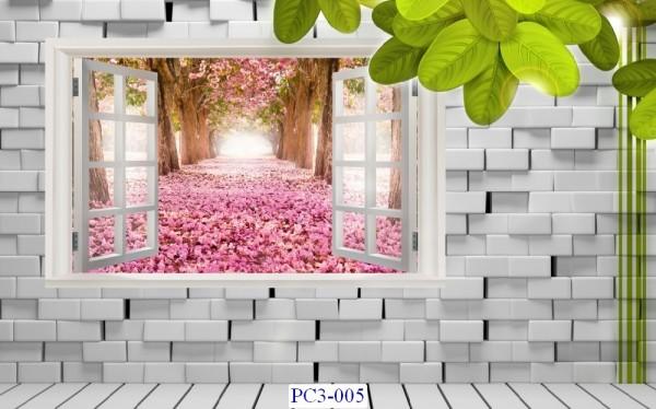 Tranh dán tường Phong cảnh 3D Mã PC3-005