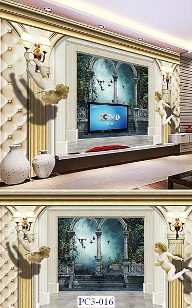 Tranh dán tường Phong cảnh 3D Mã PC3-016