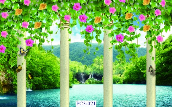 Tranh dán tường Phong cảnh 3D Mã PC3-021