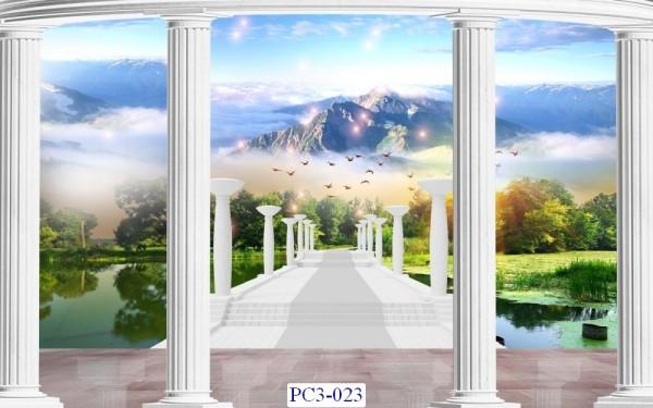 Tranh dán tường Phong cảnh 3D Mã PC3-023