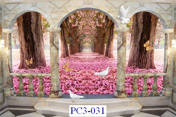 Tranh dán tường Phong cảnh 3D Mã PC3-031