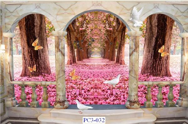 Tranh dán tường Phong cảnh 3D Mã PC3-032