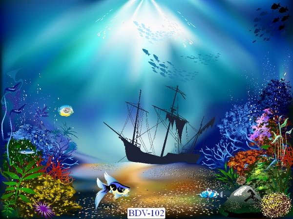 Tranh dán tường Động vật biển Mã BDV – 102