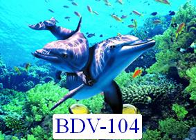Tranh dán tường Động vật biển Mã BDV – 104