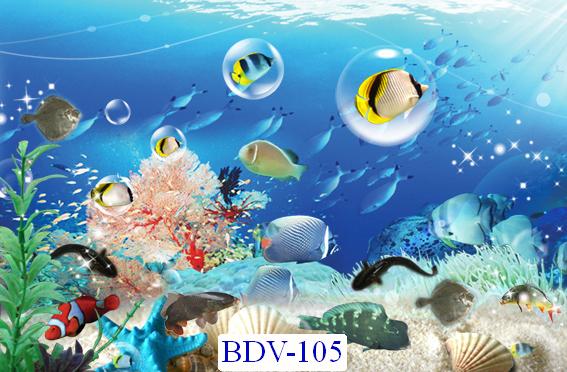 Tranh dán tường Động vật biển Mã BDV – 105