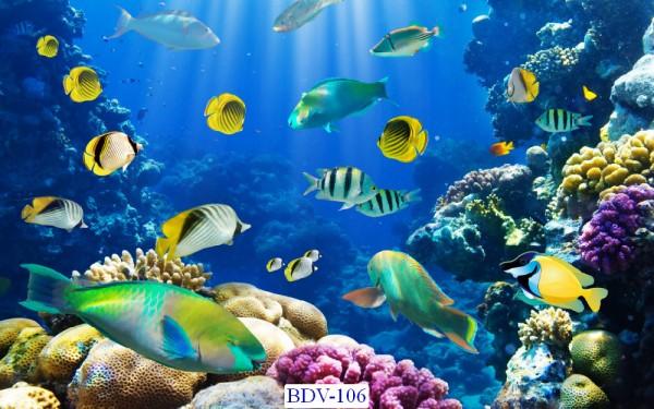 Tranh dán tường Động vật biển Mã BDV – 106