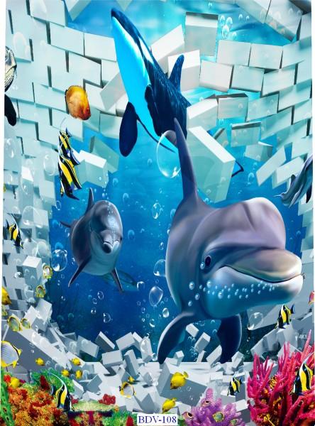Tranh dán tường Động vật biển Mã BDV – 108