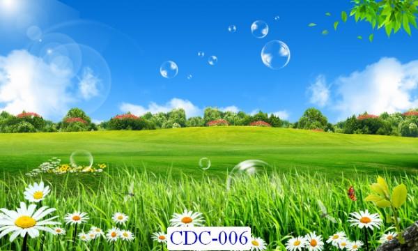 Tranh dán tường Cánh đồng Mã CDC – 006