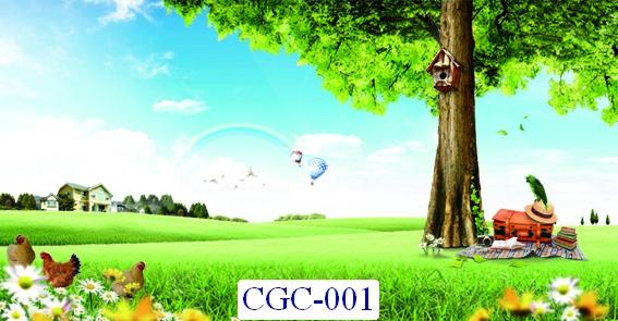 Tranh dán tường Cây cối Mã CGC- 001