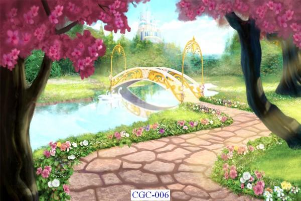 Tranh dán tường Cây cối Mã CGC- 006