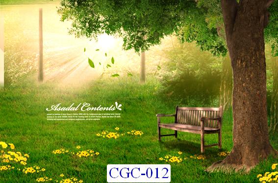 Tranh dán tường Cây cối Mã CGC- 012