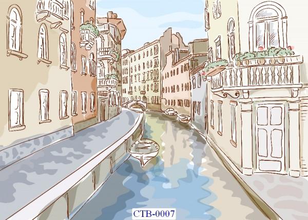 Tranh dán tường Thành phố Paint Mã CTB – 0007