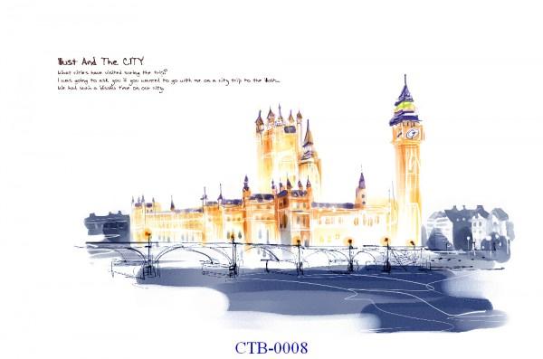 Tranh dán tường Thành phố Paint Mã CTB – 0008