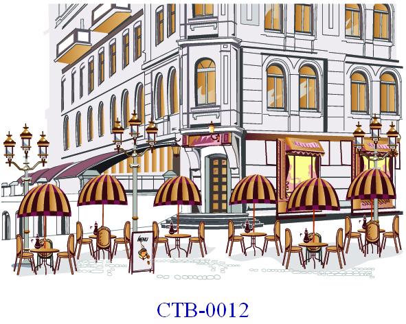 Tranh dán tường Thành phố Paint Mã CTB – 0012