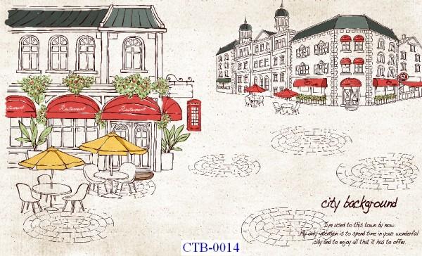 Tranh dán tường Thành phố Paint Mã CTB – 014