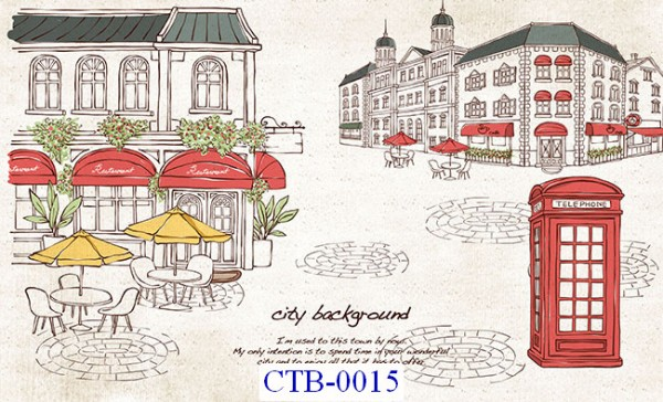 Tranh dán tường Thành phố Paint Mã CTB – 015