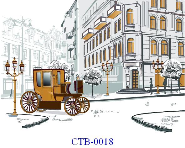 Tranh dán tường Thành phố Paint Mã CTB – 0018