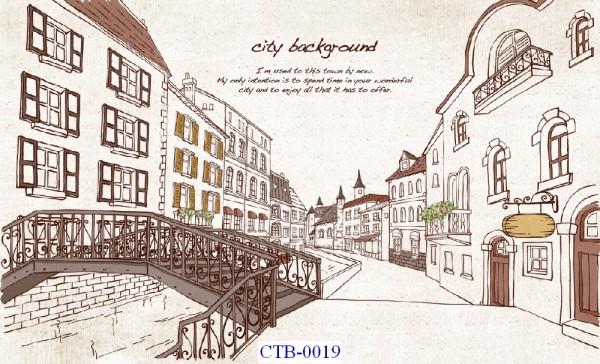 Tranh dán tường Thành phố Paint Mã CTB – 0019