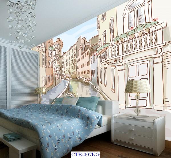 Tranh dán tường Thành phố Paint Mã CTB – 007KG