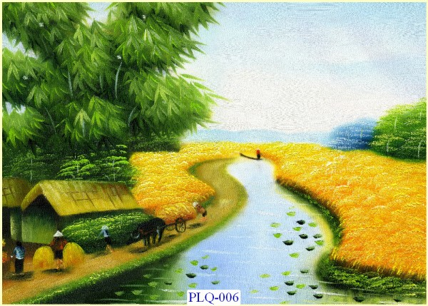 Tranh dán tường đồng quê Mã PLQ – 006