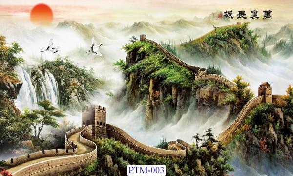 Tranh dán tường Thủy mặc Mã PTM – 003