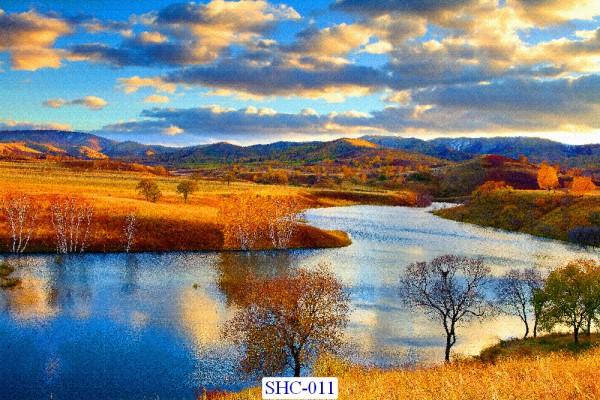 Tranh dán tường Hồ sông suối mã SHC – 011