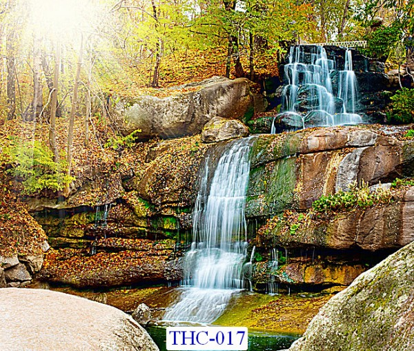 Tranh dán tường Thác nước mã THC – 017